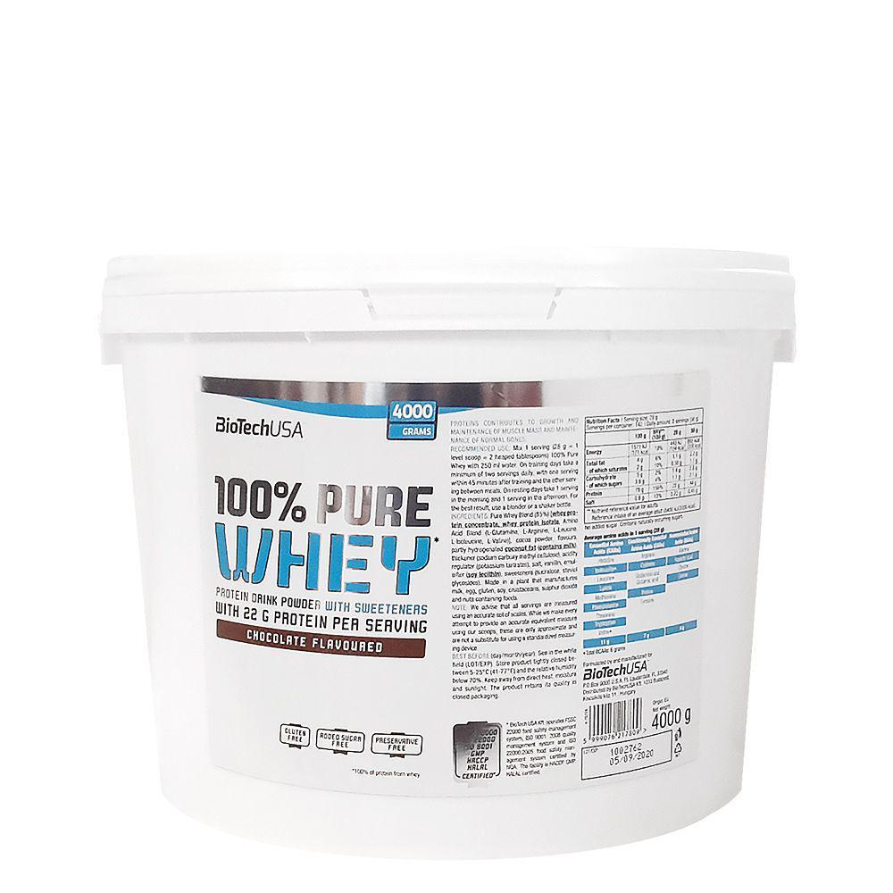 Протеин Biotech USA 100% Pure Whey 4000g