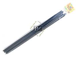 """Уплотнитель опускного стекла двери ВАЗ 2104, 2105, 2107 горизонтальный, загнутые (комплект 8 шт.) """"бархотка"""""""