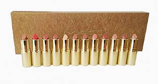 Набор помад MAC matte lipstick rouge a levres (12 шт.) gold