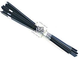 Уплотнитель опускного стекла двери ВАЗ 2109 нижний, нового образца (комплект 8 шт.)