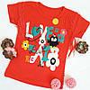 """Футболка """"Love"""" детская на девочку 1-4 года, коралловый"""