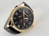 Мужские часы Montblanc кварцевые, цвет корпуса золото, черный циферблат
