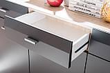 Комод трьохдверний з шухлядою у вітальню сан ремо/графіт матовий ДСП HB Clif Furnival, фото 5