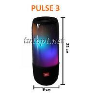 """Портативная беспроводная колонка JBL Pulse 3 Sensor USB, SD, FM, Bluetooth, сенсорные кнопки """"Реплик"""