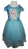"""Детское платье """"Frozen"""" голубое с аксессуарами, фото 1"""