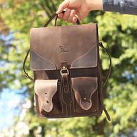 """Рюкзак-трансформер из натуральной кожи """"crazy horse"""", фото 1"""
