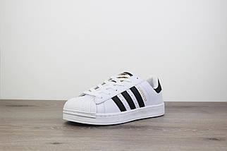Женские кроссовки Adidas Superstar Core White, фото 2