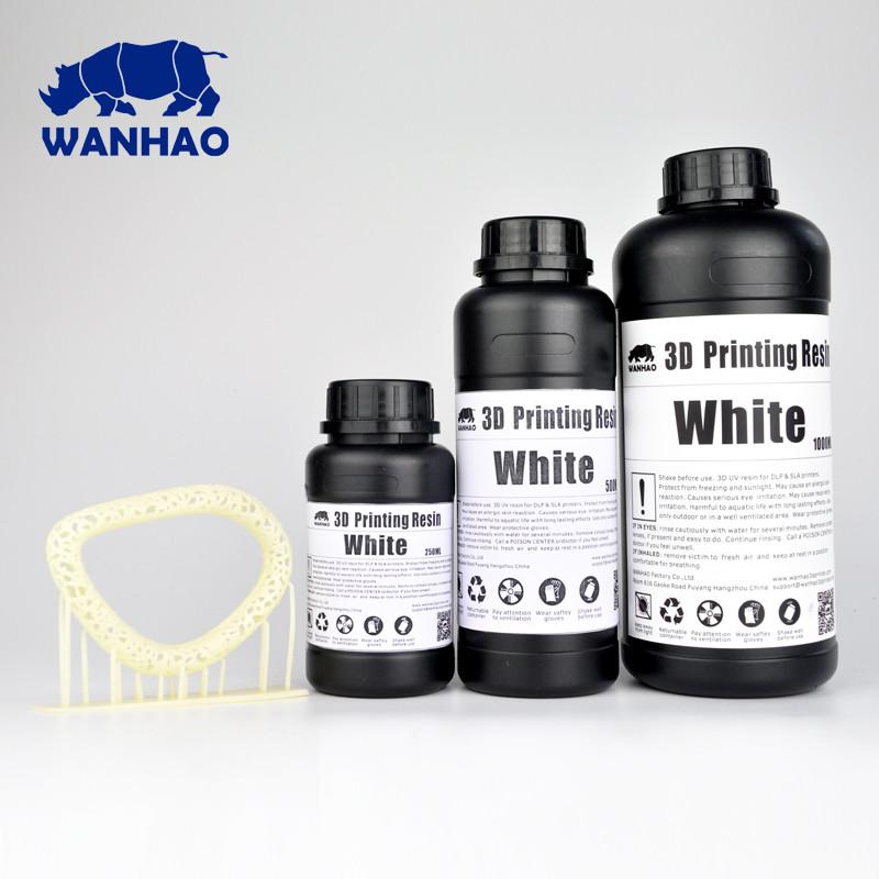 Фотополимер Wanhao Белый UV 405NM 0,5л