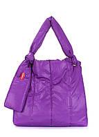 Дутая сумка POOLPARTY Zefir фиолетовая