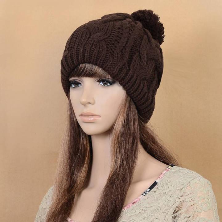 Вязаная шапка Унисекс. Купить в интернет-магазине Mak-Shop ...