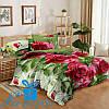 Двуспальное постельное белье из сатина КРАСНЫЕ РОЗЫ (180*220)
