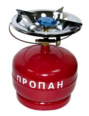 Баллон газовый бытовой 5 л бутан с горелкой
