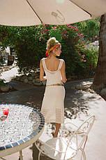 Пляжное платье-майка вязаное белое 146-25, фото 2