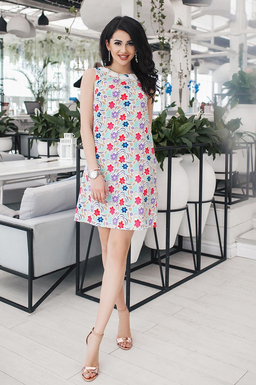Летнее Платье Лали в мятном цвете