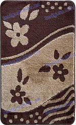 Набор ковриков для ванной, 60х100 + 60х50см.цвет бежевый c коричневым