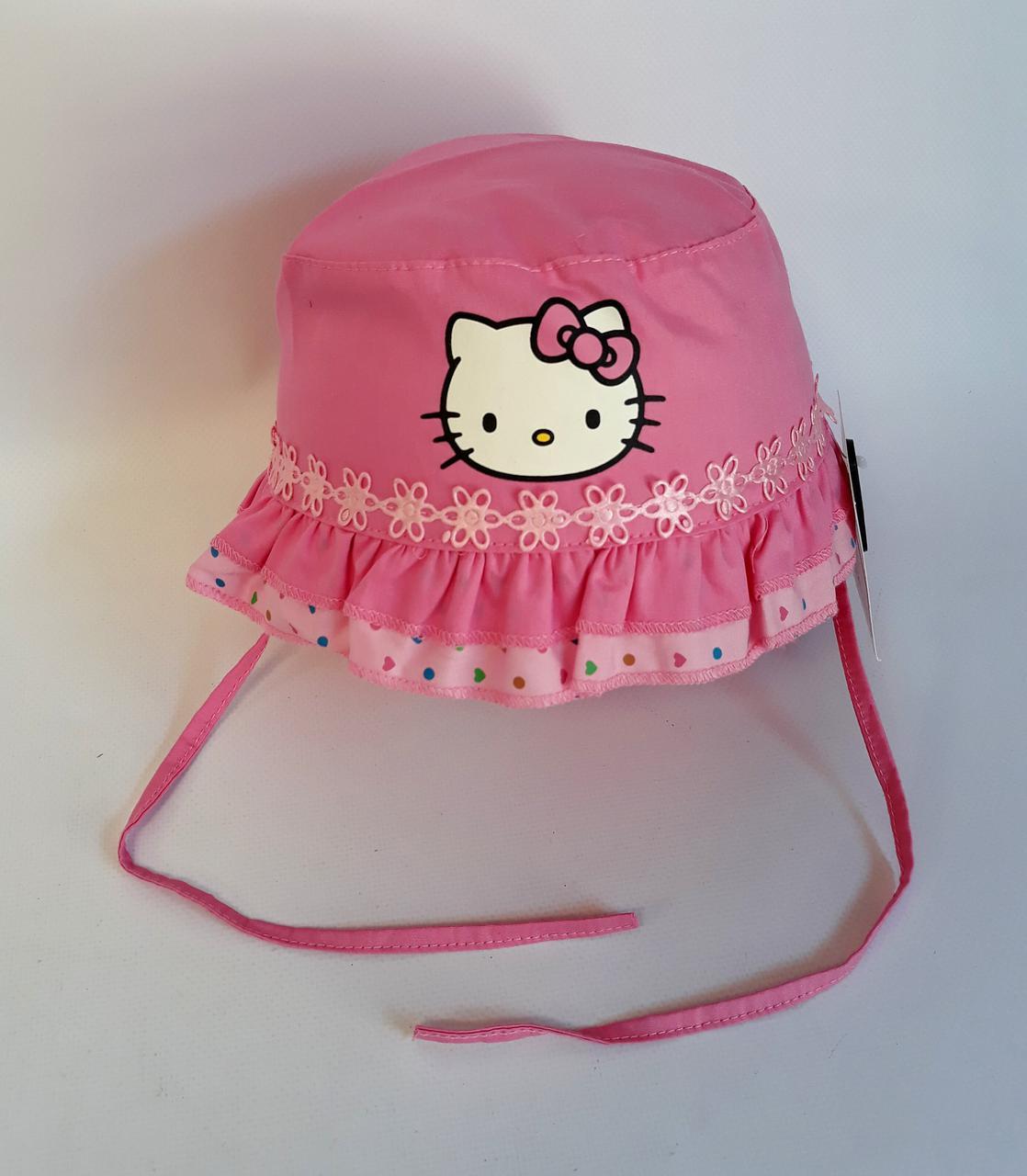 Головной убор для девочки. Панамка Hello Kitty Размер 50 UGR-328(50) Турция