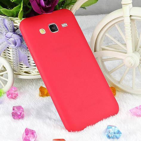 Чехол Style для Samsung J5 2015 / J500 Бампер силиконовый красный, фото 2