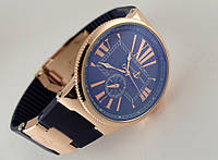 Женские часы - Ulysse Nardin - Le Locle на синем каучуковом ремешке, цвет корпуса золото