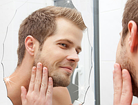 Акриловое зеркало, размером 27*42 см, овальное с зубчиками, серебро, толщиной 0,8 мм