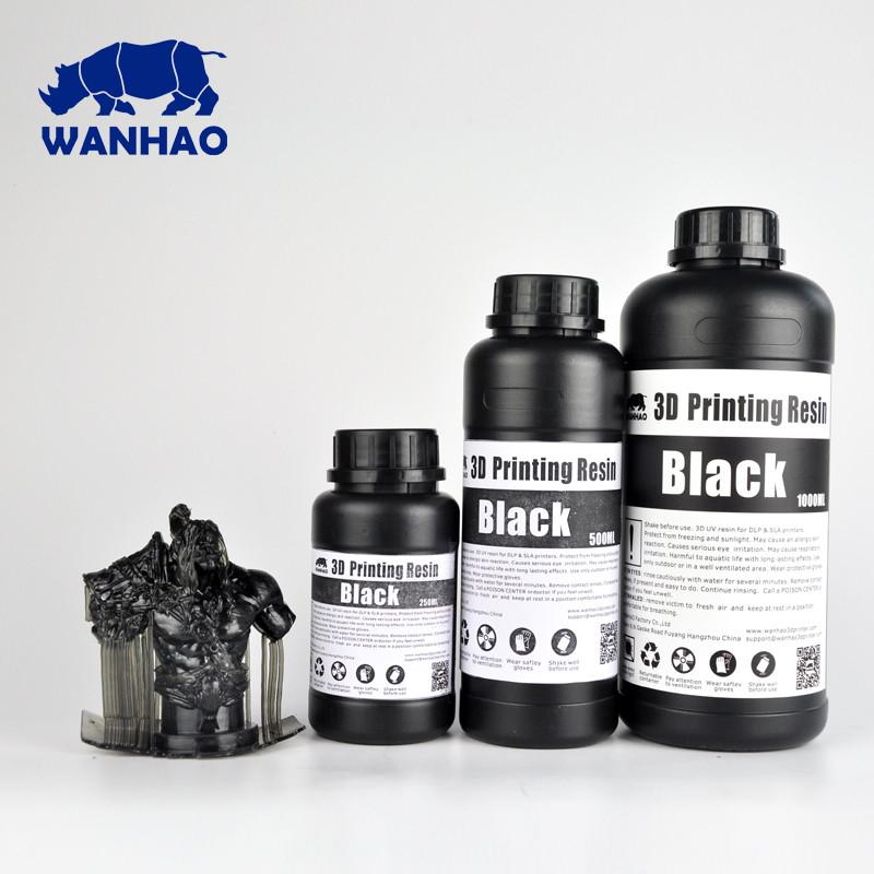 Фотополимер Wanhao Черный UV 405NM 0,5л