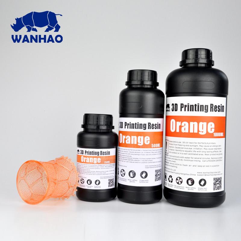 Фотополимер Wanhao Model Оранжевый UV 405NM 1л