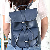 """Женский кожаный рюкзак """"Patsy"""" темно-синий под рептилию, фото 1"""
