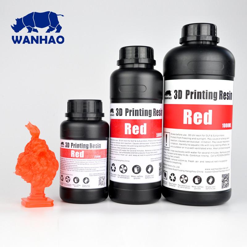 Фотополимер Wanhao Model Красный UV 405NM 1л