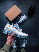 Мужские кроссовки  Nike Air VaporMax White (РЕПЛИКА)