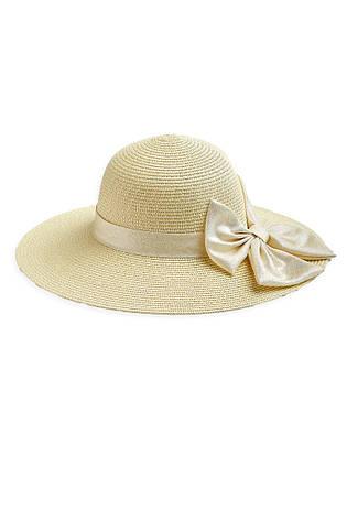 Летняя женская светлая шляпка с бантом, фото 2