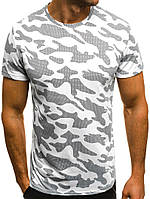 Мужская камуфляжная футболка белая, 0174