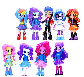 Фігурки Дівчинки з Эквестрии 9в1, 13 см - My Little Pony, Equestria Girls