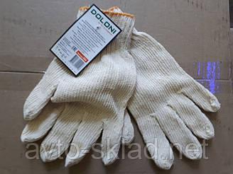 Рукавички робочі (білі) Долоні ПВХ 7 клас