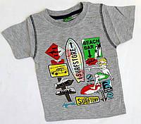 "Футболка ""Surfstore"" детская на девочку 86-104 года, серый"
