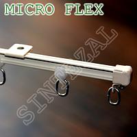Ультра-тонкий алюминиевый карниз для штор Micro Flex.