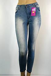 Голубі жіночі літні джинси з підвищеною талією розпродаж