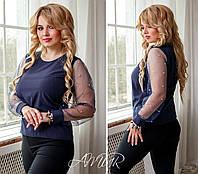 Блузка женская большие размеры (цвета) СЕР1216, фото 1