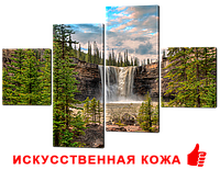 """Модульная картина """"Лесной водопад"""" 166*114см"""