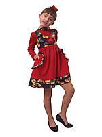 Платье  детское с длинным рукавом   М -1023  рост 116.  трикотажное
