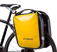 Велосумка Crosso DRY BIG 60L Жёлтая (Велобаул, Велорюкзак на багажник), фото 1