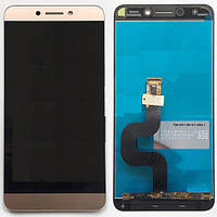 Дисплей (экран) для LeTV X500 One 1s/X501/X502/X507 + тачскрин, золотистый, оригинал