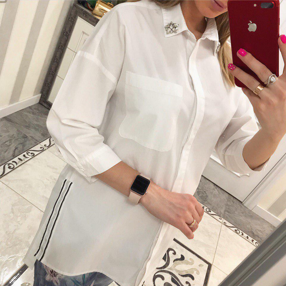 Рубашка женская коттон чёрный