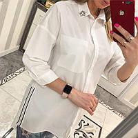 Рубашка женская коттон чёрный, фото 1