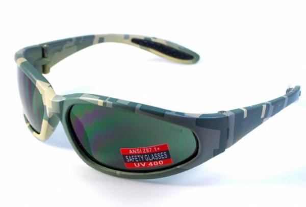 Защитные очки Digital Camo от Global Vision (США) чёрно-зелёная линза