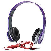 ➤Наушники Monster Beats PV TM-SLL0001 Фиолетовые накладные музыкальные jack 3.5