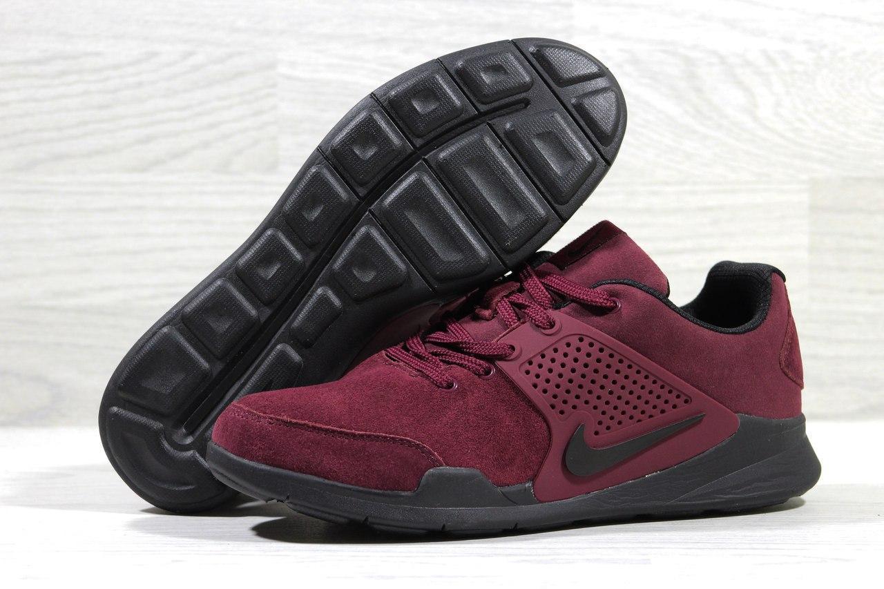 Мужские кроссовки Nike Air Presto.Бордовые