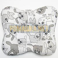 Подушка двухсторонняя ортопедическая для новорожденных верх 100% хлопок, 30х25 см 4060 Белый