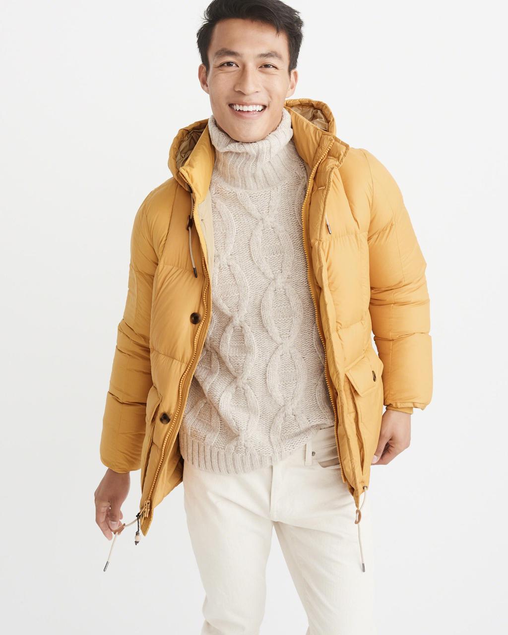 Куртка-пуховик Abercrombie & Fitch Down-Filled Puffer Coat M