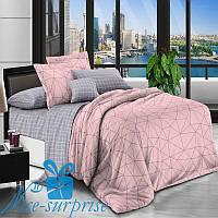 Двуспальное постельное бельё из хлопкового сатина БАРРИ (180*220), фото 1