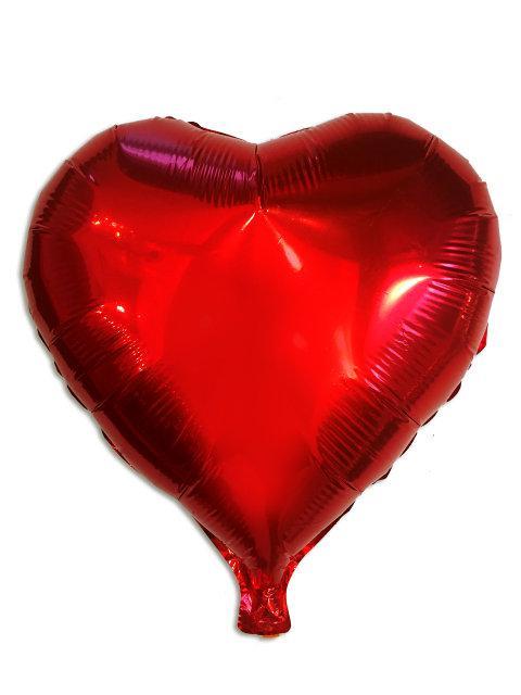Шар фольгированный сердце 45 см красное Китай