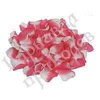 Лепестки роз (уп. 120шт) розово-белые, фото 1